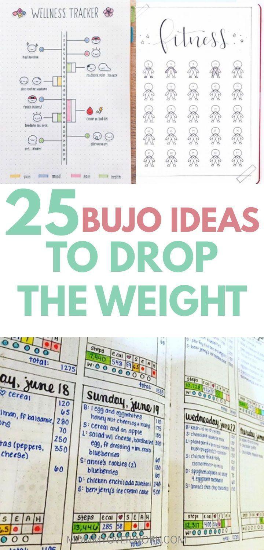 25 idées de perte de poids Fitness Bullet Journal pour vous faire pomper  #Bullet #faire #fitness #i...