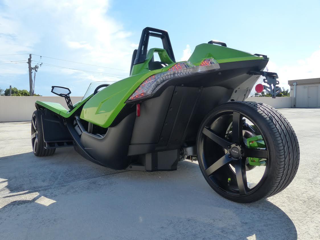 Coral Motorsports Custom Green Slingshot SL   Polaris Slingshot ...