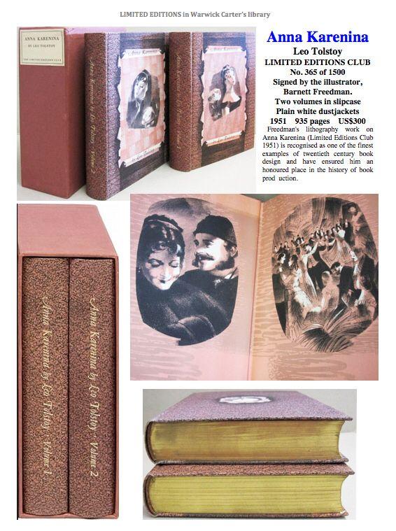 Anna Karenina Leo Tolstoy Limited Editions Club Beautiful