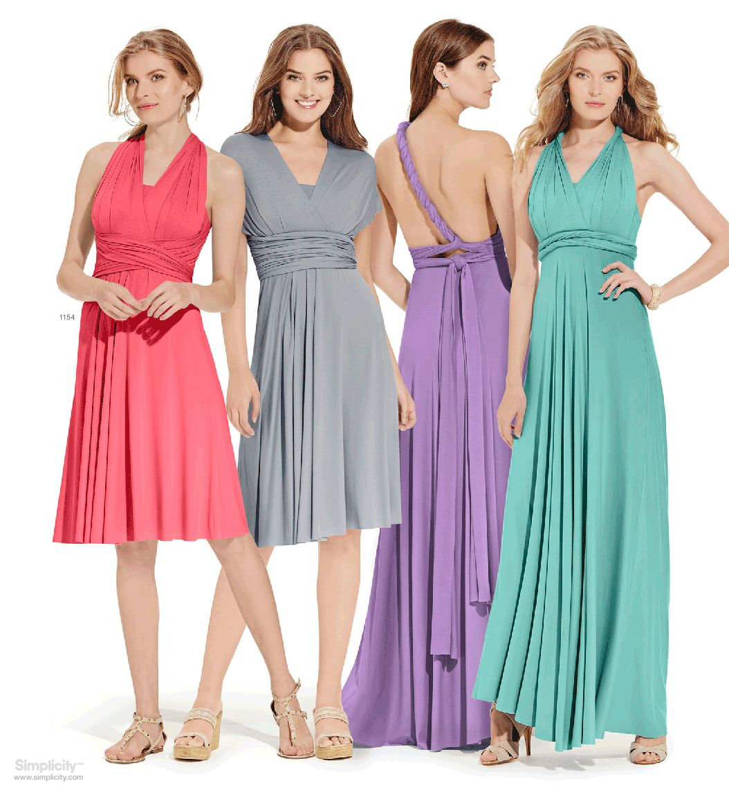 One Dress Multiple Styles This On Trend Wrap And Tie Knit Can Be Tied In A Variety Of Ways To Flatter Any Figure Type