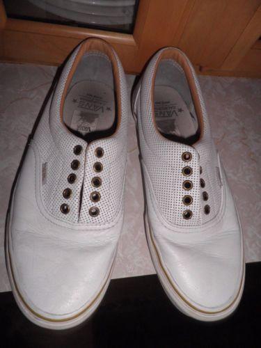 Vans-White-Leather-VTG-shoes-Mens-Size-10