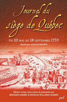 Journal du siège de Québec du 10 mai au 18 septembre 1759.