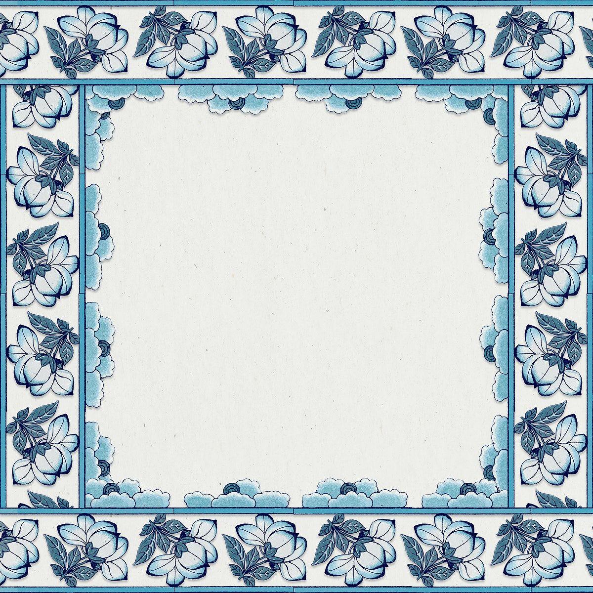 Download premium illustration of Floral square frame in ...