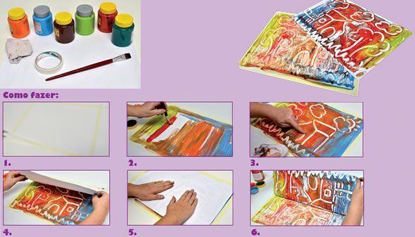 Guia pr tico de educa o infantil monotipia ensine for Como colocar papel mural