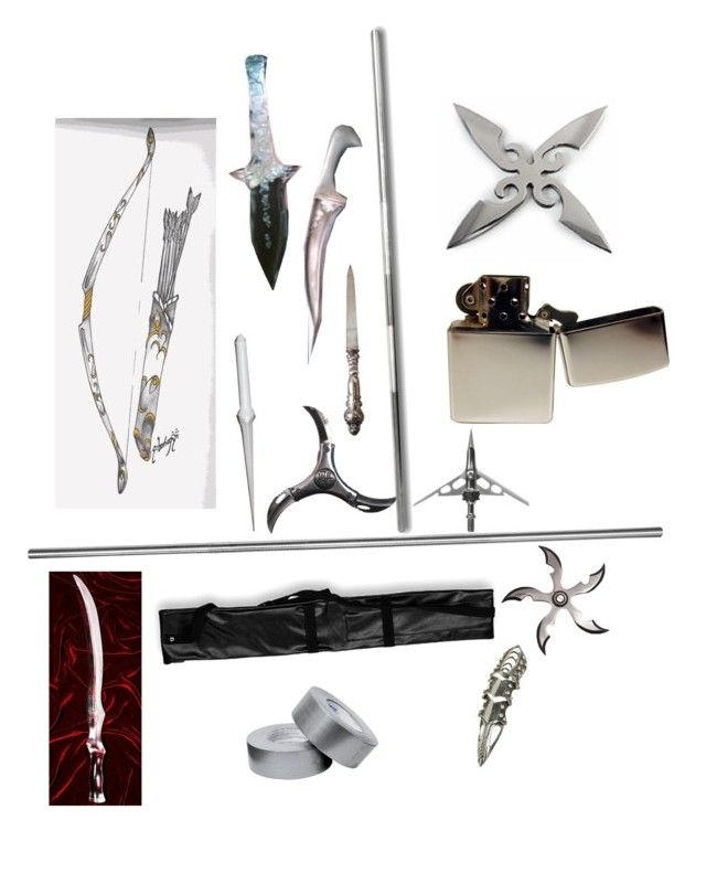 """""""Silver Weapons"""" by gone-girl ❤ liked on Polyvore featuring Zippo, Wet Seal and Stele"""