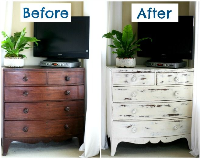 Annie sloan chalk paint before after blooming on for Muebles restaurados antes y despues