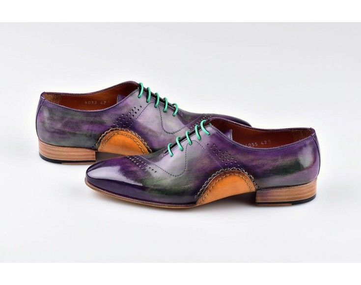 b8a3f3e7d5373 Mens Luxury Shoes : TucciPolo Mens Handmade Purple Oxfords Side Handsewn  Welted Italian Leather Core Luxury