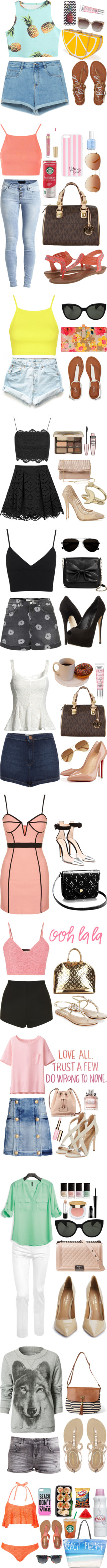 """""""summer favs"""" by caracullencakey on Polyvore"""