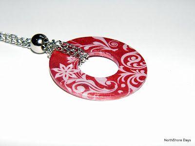 polished washer pendants