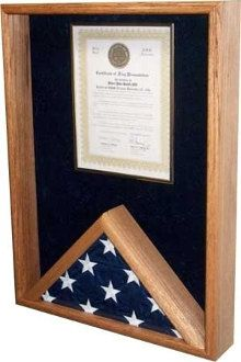 Certificate Holder Flag Display Case