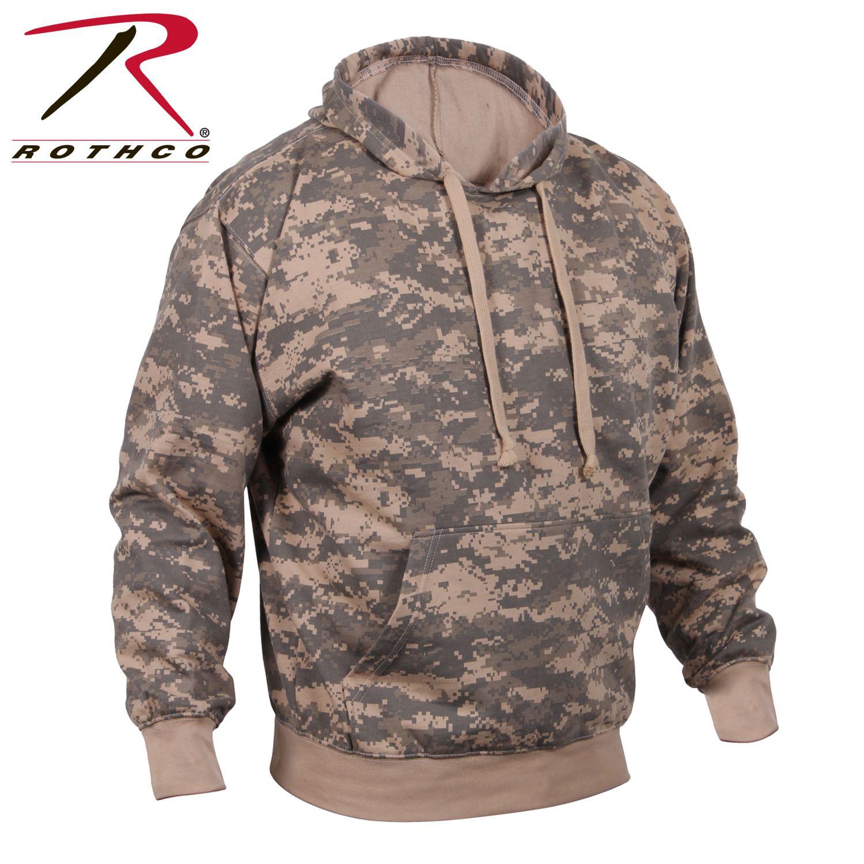 Camo Hoodie Pullover Hooded Sweatshirt Army Military Camouflage Tactical Fleece