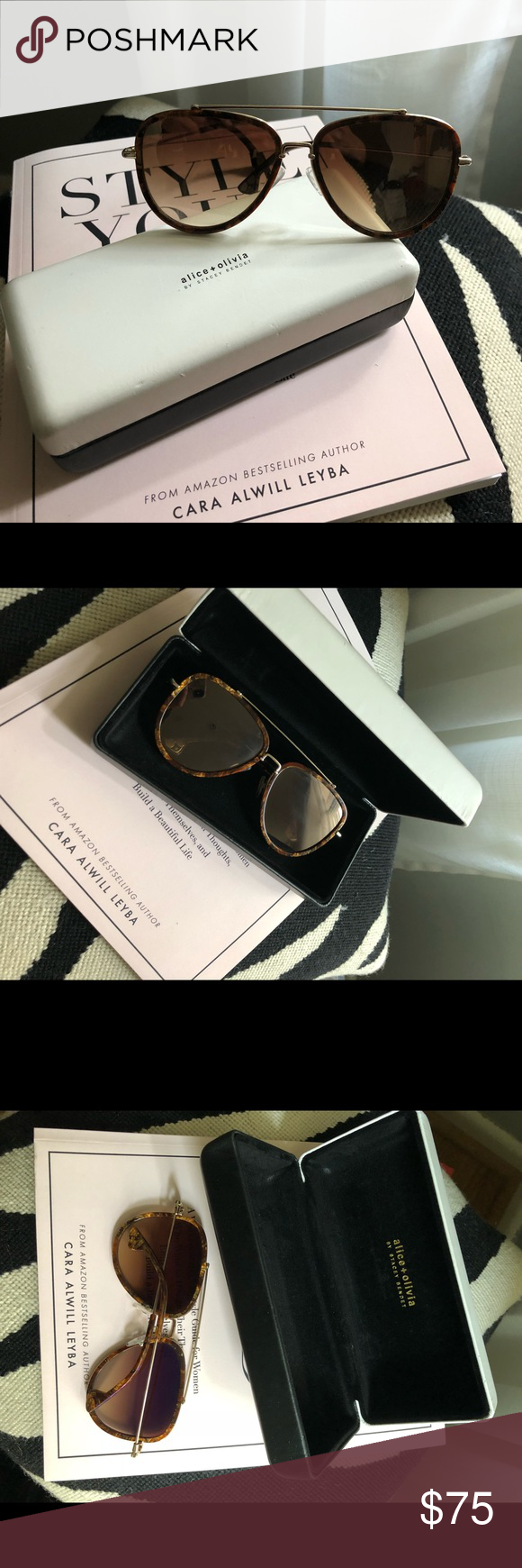 8d43e18d48 Alice + Olivia Lincoln Aviator Sunglasses Tortoise Alice + Olivia Lincoln  Aviator Sunglasses Tortoise - Color