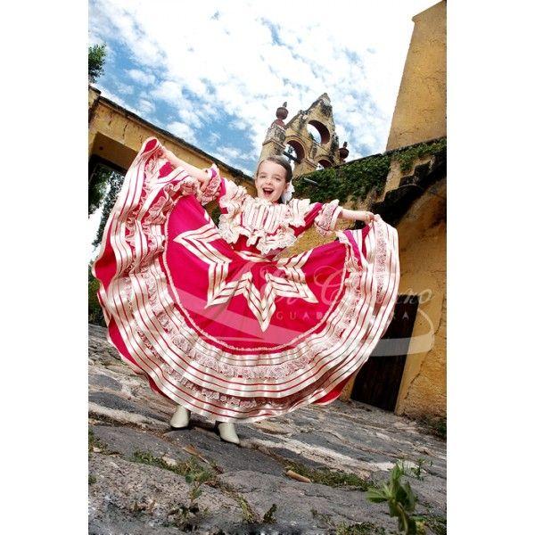 Vestido De Escaramuza Para Niña En 2019 Vestidos Mexicanos