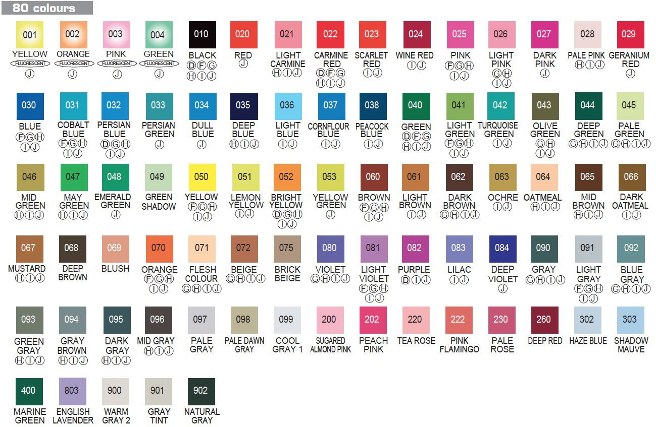 Zig Clean Color Real Brush Pen Color Chart Picture Taken From