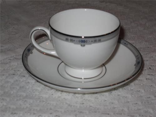 IKEA DINERA Coffee cup and saucer, gray blue (6 Sets