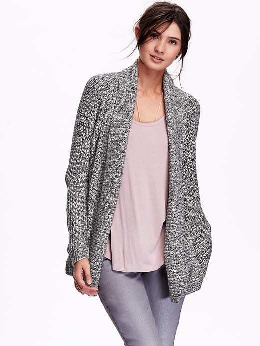 Marled Open Front Cardigan | Old Navy | Cardigan sweaters