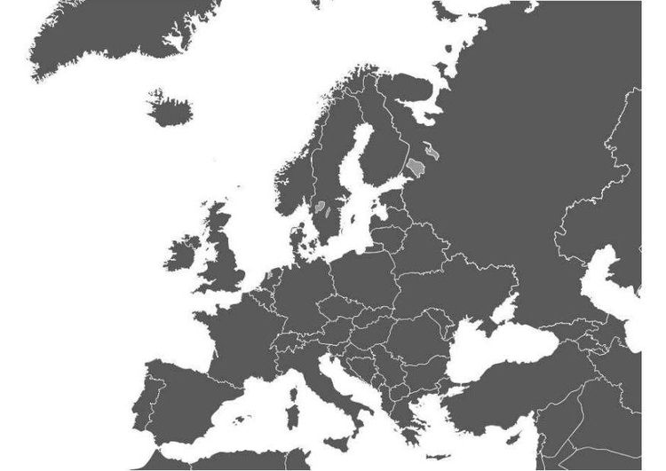kleurplaat kaart europa kaarten kleurplaten gratis