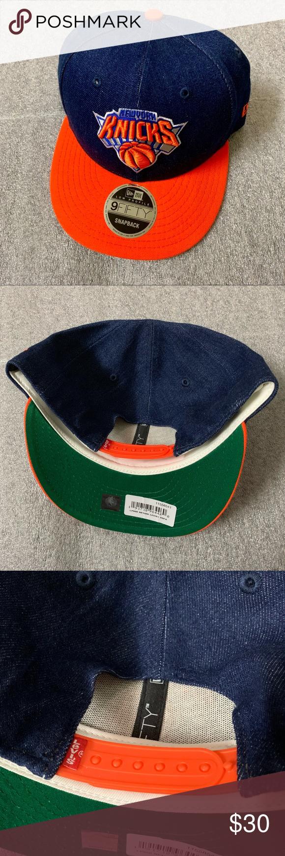 New Levi S New Era Ny Knicks Denim Snapback Hat Os Levi Snapback Hats Levi S