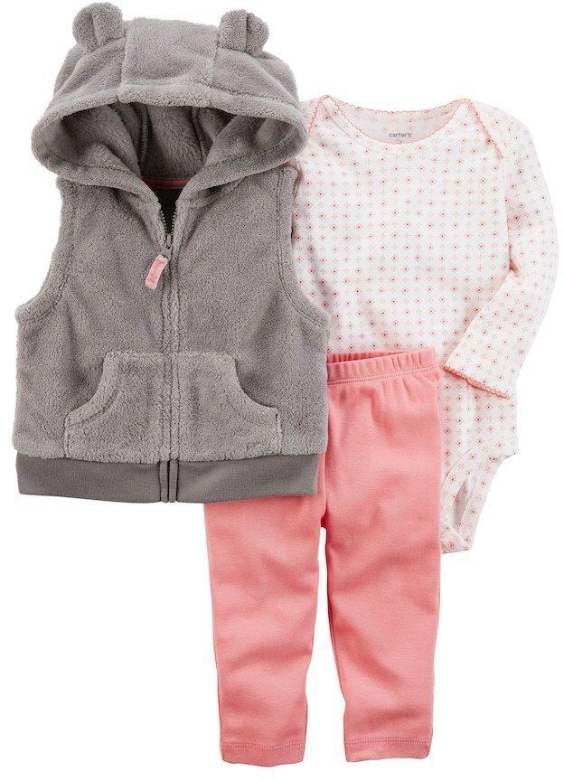 Carters Baby Girls Velboa Jacket