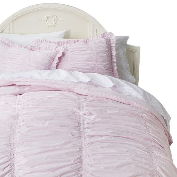 Simply shabby chic rouched comforter set pink home - Simply shabby chic bedroom furniture ...