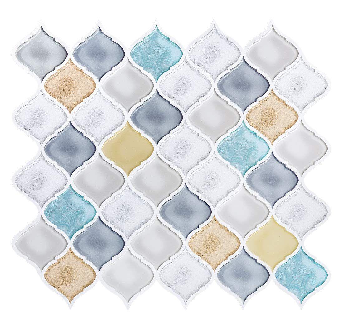 Arabesque Peel And Stick Tile Backsplash Anti Corrosion Self Stick Backsplash For Kitchen 10 X11 26 P Arabesque Tile Arabesque Tile Backsplash Stick On Tiles