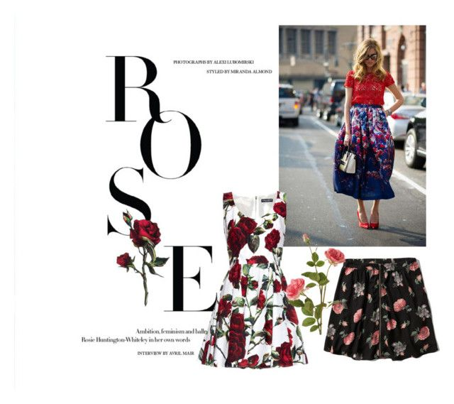 """""""Rose"""" by iknewherwhen on Polyvore featuring Chiara Ferragni, Dolce&Gabbana, Abercrombie & Fitch and OKA"""