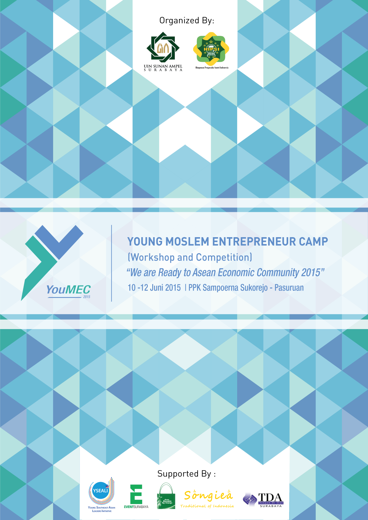 desain cover blocknote event youmec young moslem entrepreneur camp program studi ilmu komunikasi