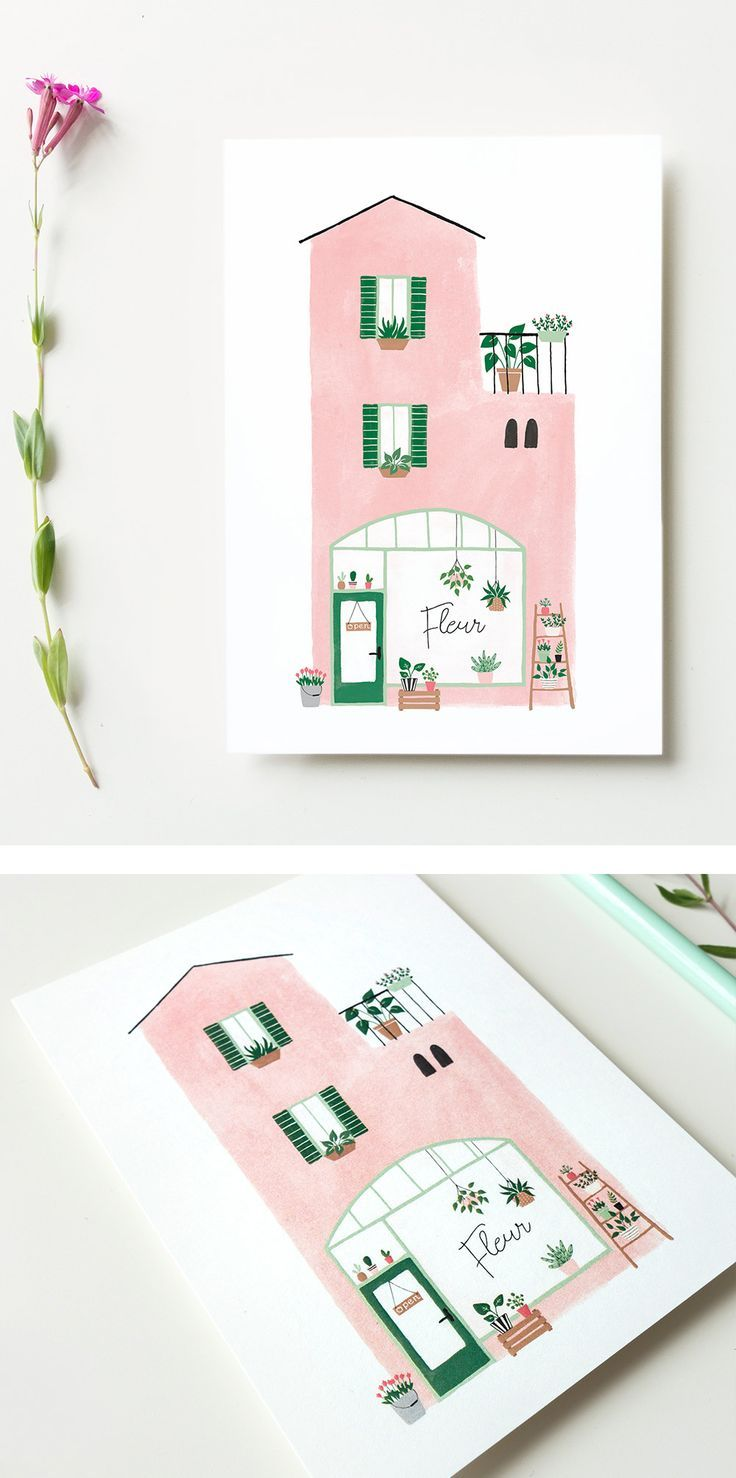 Photo of Postcard plant shop – florist card plant lady card flower shop cards with plants postcrossing tiny houses mediterranean decor plant lover