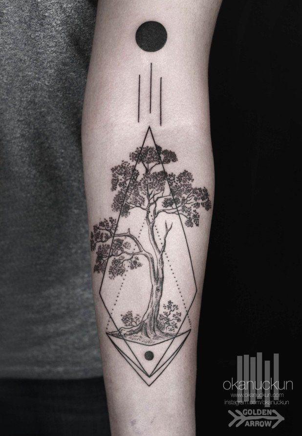 Striking Geometric Blackwork Tattoos By Okan Uckun Tattoo