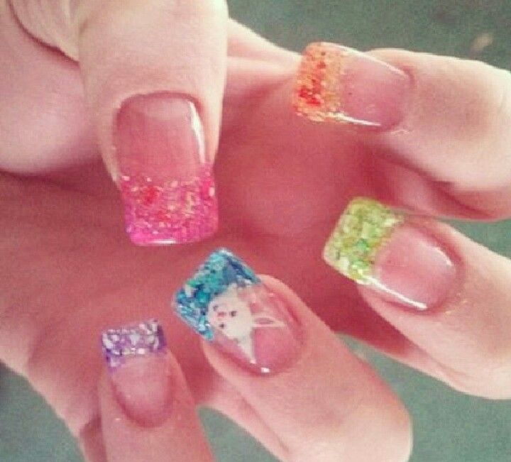 So getting my nails like this for easter...