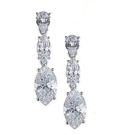 Nadri Cubic Zirconia Teardrop Earrings Dillards p ros wedding