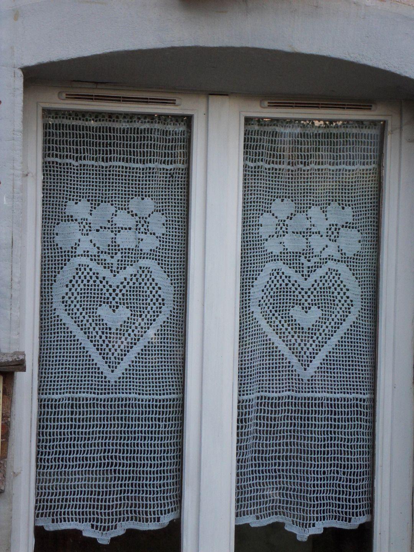 rideau crochet fait main taille xl collection voisins je vous aime rideaux crochet je vous. Black Bedroom Furniture Sets. Home Design Ideas