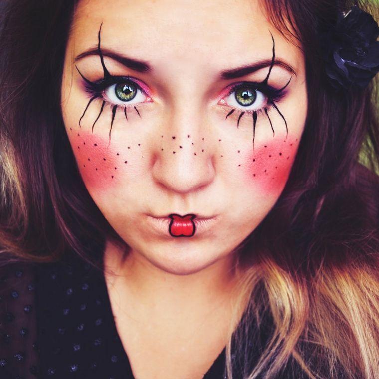 Maquillaje halloween para mujeres para impresionar Clown makeup