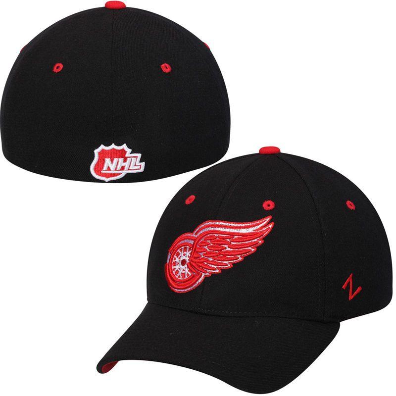 watch dfe3b 0eab9 Detroit Red Wings Zephyr Breakaway Flex Hat – Black