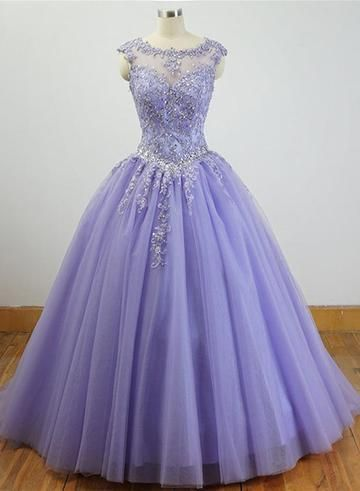 Charming Formal Dress 2019, Beautiful Quinceanera Dresses with Appliques 2019 - Ball dresses, Sweet 16 dresses, Lavender quinceanera dresses, Quincenera dresses, Purple quinceanera dresses, Prom dresses ball gown - color and Rush Order are available, and no extra cost  Material Tulle,  Color Light Purple,  HemlineFloor Length,  Back Details Laceup Delivery times Processing time    12 weeksShipping time        35 working days Custom Measurements For custom