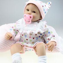 18 Polegadas 45 CM Lifelike Silicone Renascer Baby Doll Marca Brinquedos Melhor Presente Para As Crianças Meninas Pano Macio Bebês Corpo Brinquedos princesa(China (Mainland))