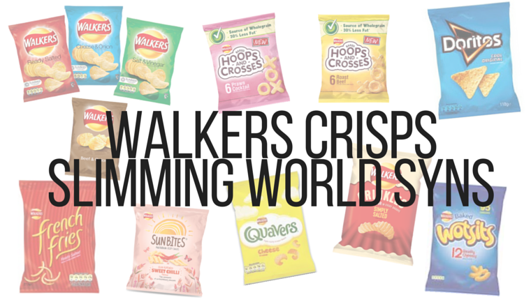 Product Size Weight Syns Walkers Ready Salted Crisps 25g 7