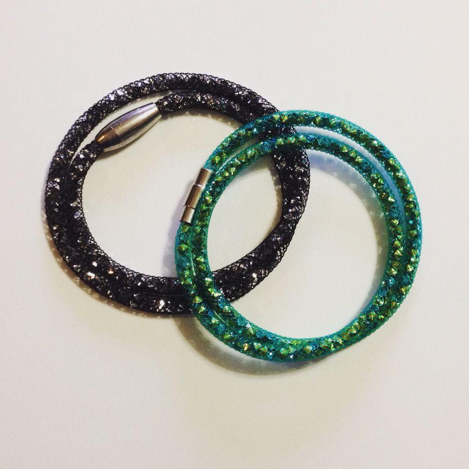 Bracciali in rete tubolare con diamantini