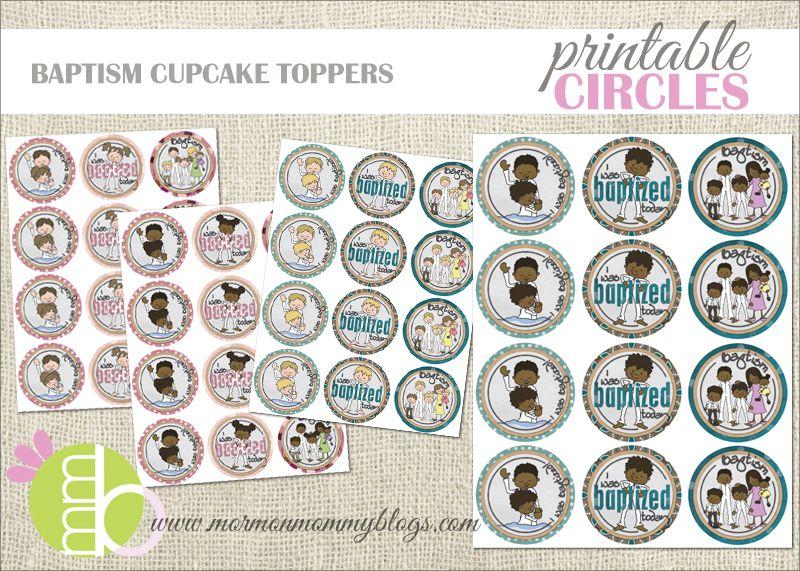 Free Printable Baptism Cupcake Toppers | Mormon Mommy Printables ...