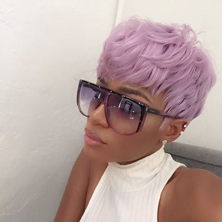 Black Girl With Colored Hair Colorful Hair Lavender Hair