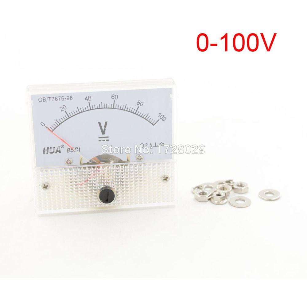 $11.49 (Buy here: http://appdeal.ru/4q9u ) DC 0-100V Analog Volt Voltage Panel Meter Voltmeter Gauge 85C1 for just $11.49