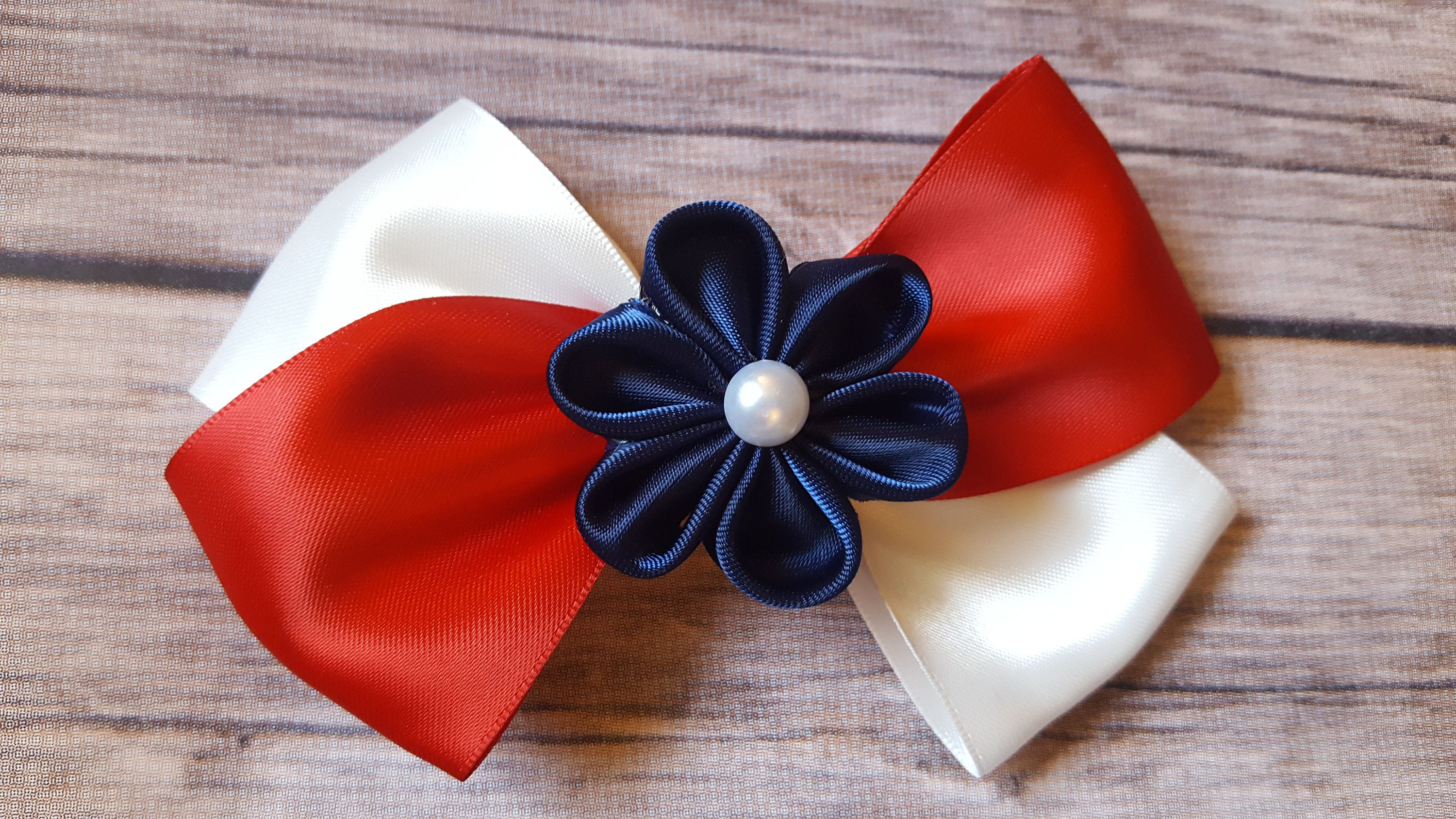 Th of july accessories th of july hair bow red white and blue
