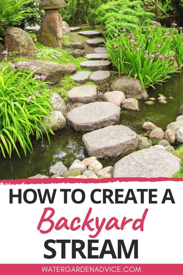 How To Build A Backyard Stream Water Feature in 2020 ...
