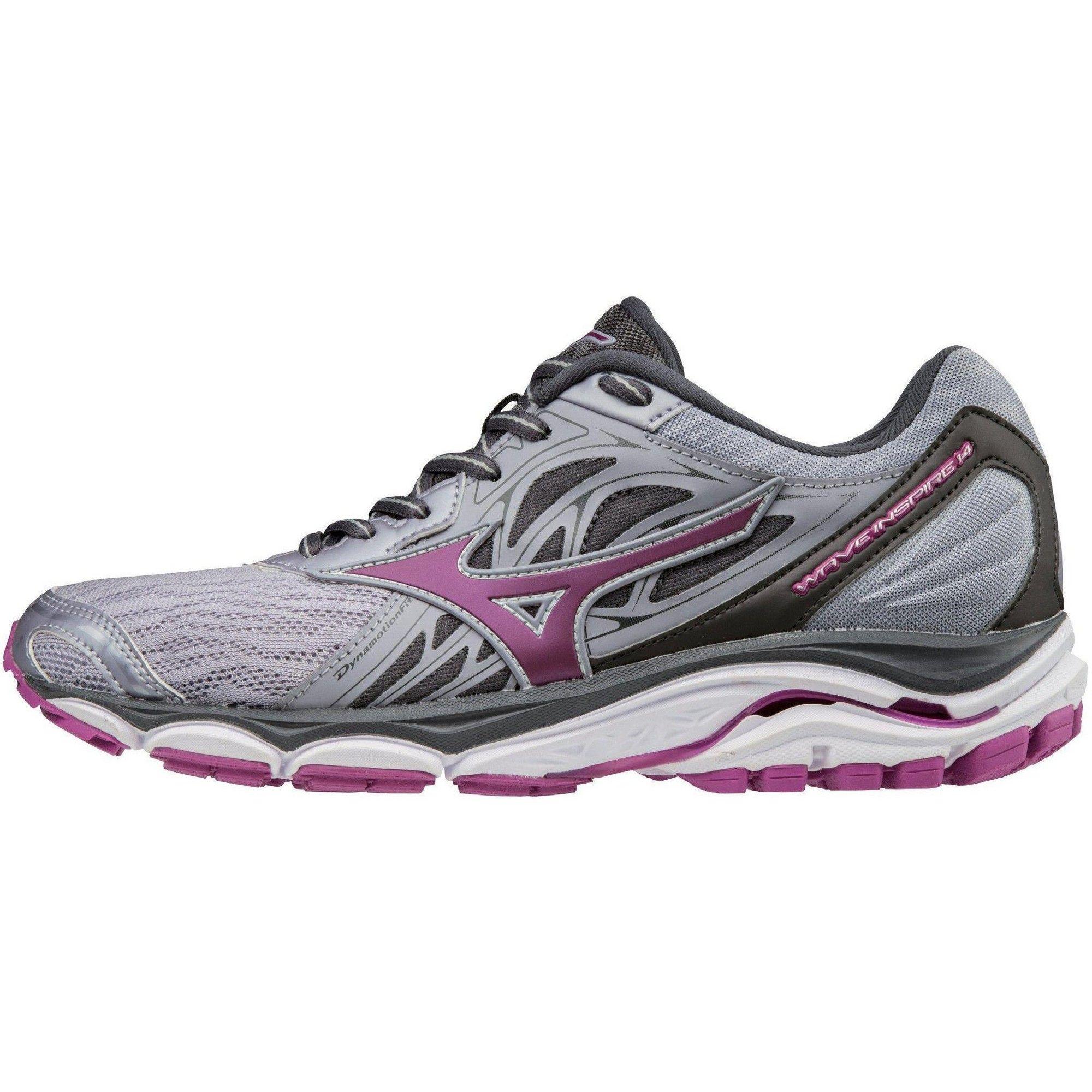 Mizuno Women S Wave Inspire 14 Wide Running Shoe Womens Size 7 In Color Dapple Gray Clover 9m6 Narrow Running Shoes Wide Running Shoes Large Size Womens Shoes