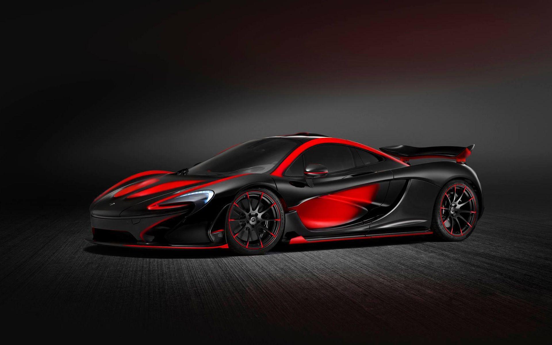 Black And Red Mclaren P1 Sports Car Hd Wallpaper Mclaren P1 Red And Black Wallpaper Sports Car