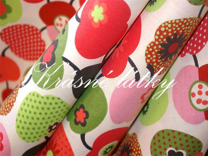 Jablíčka- š.160 cm 100% bavlna v pestrých b. na dětské výrobky atp ... ff01ac17fad