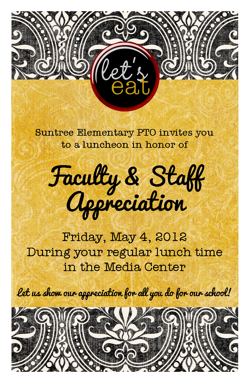 2012 Teacher Appreciation Luncheon Invite Visual
