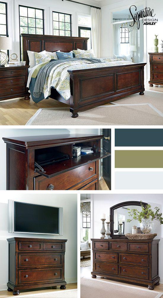 Bedroom Furniture - Queen Beds - Porter Queen Bedroom - Ashley