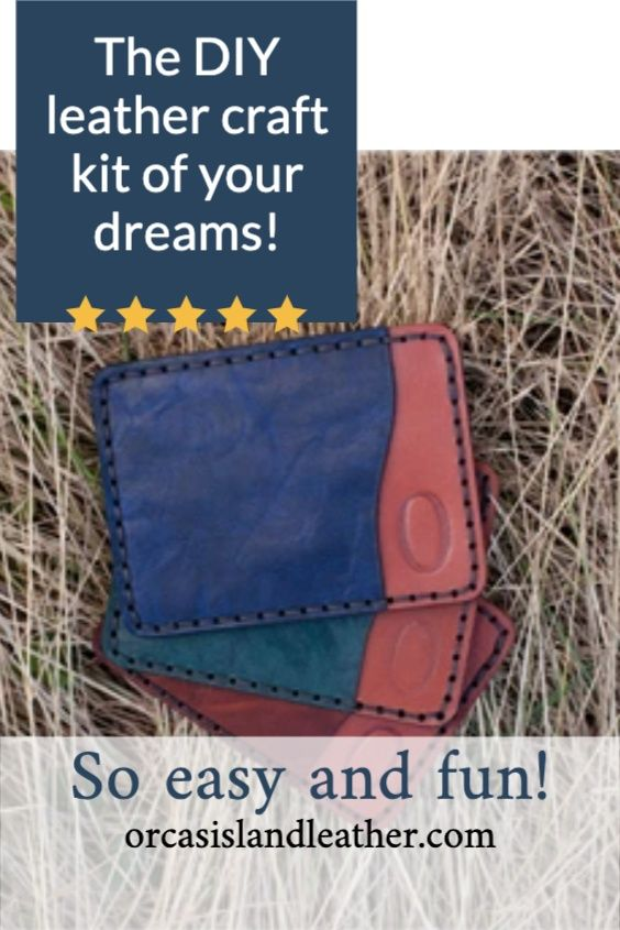 A leather kit that makes the perfect gift! Everything you need is pre-cut and included - along with full tutorials and personal support. #diyleather #greatgifts #giftsforher #uniquegifts #giftideas #leatherbag #diycraft #craftkits #diygifts #handstitched