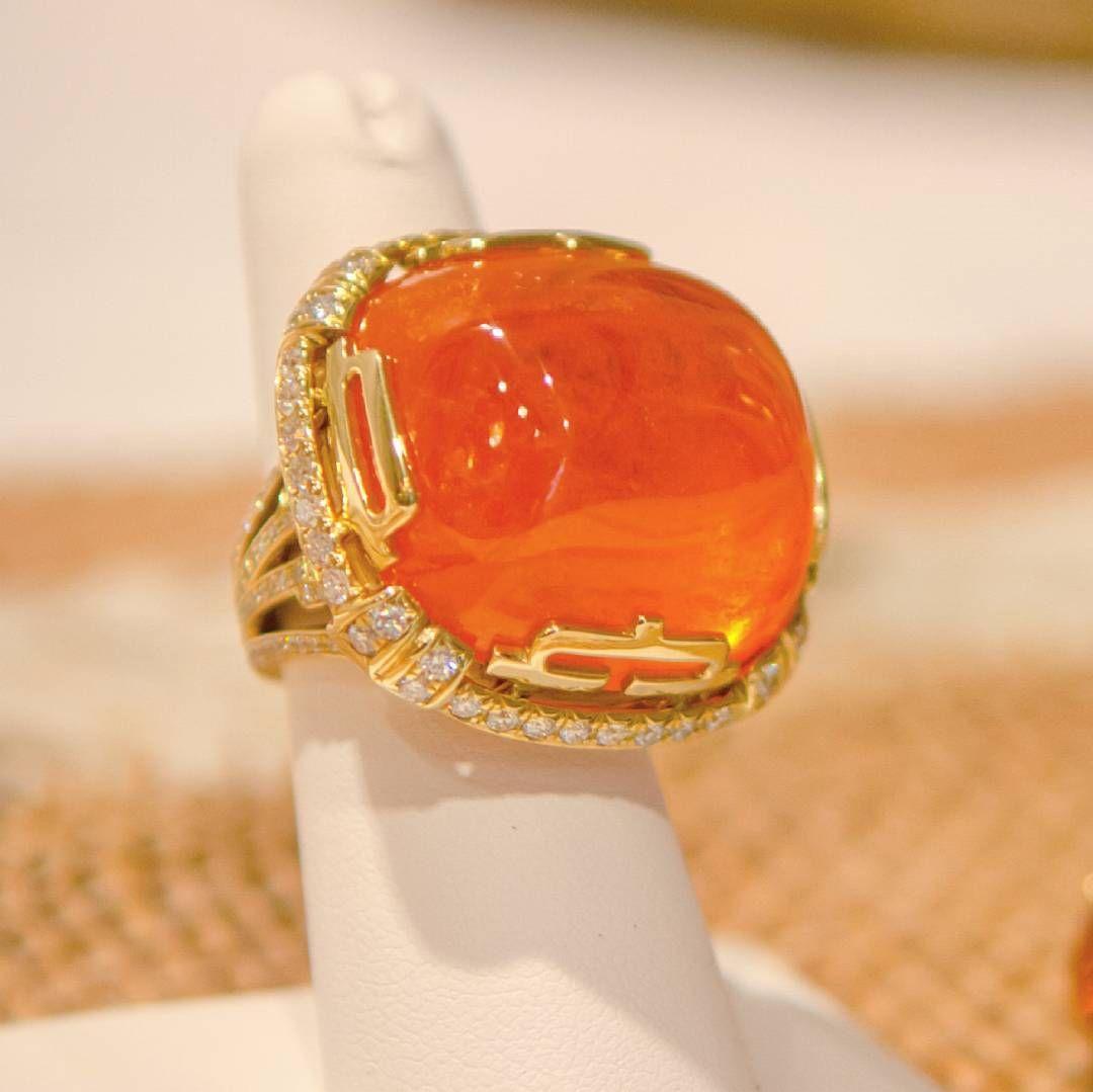 Beautiful #diamonds #gold and #mandarin #ring by  @goshwara #jewellery #jewelry #highjewelry #amazing #cute #art #artwork #handmade #design #designer #inspiration #love #follow #followme #instagood #instamood #instalike #like4like #happy #follow4follow #mariigem #luxury #stone #gemstone #gem #europe